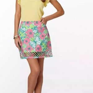 Lilly Pulitzer Blooming Cocooning Lattice Skirt